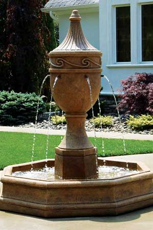 garden stone fountain Massarelli 3462