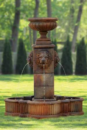 garden stone fountain Massarelli 3488