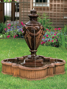 garden stone fountain Massarelli 3497