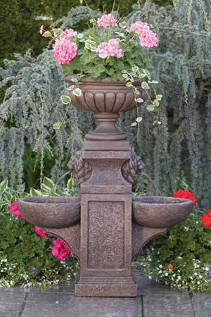 garden stone fountain Massarelli 3527