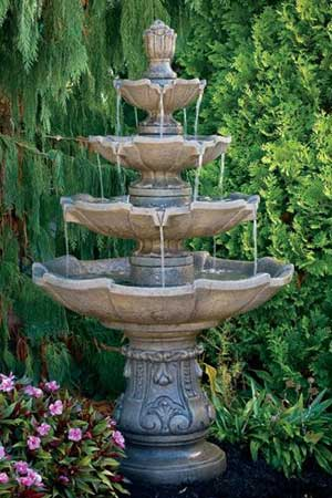 garden stone fountain Massarelli 3574