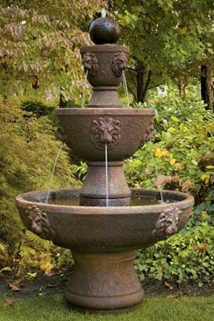 garden stone fountain Massarelli 3584