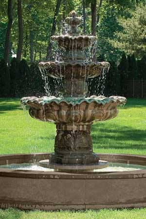 garden stone fountain Massarelli 3646