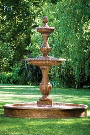 garden stone fountain Massarelli 3677