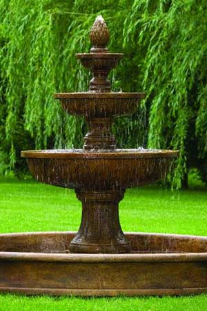garden stone fountain Massarelli 3678