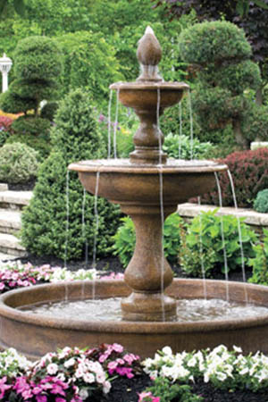 garden stone fountain Massarelli 3683