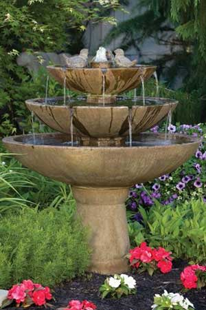garden stone fountain Massarelli 3697