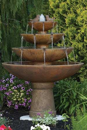 garden stone fountain Massarelli 3698