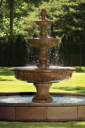 garden stone fountain Massarelli 3703