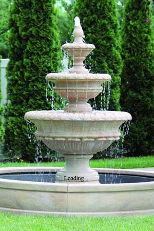 garden stone fountain Massarelli 3722