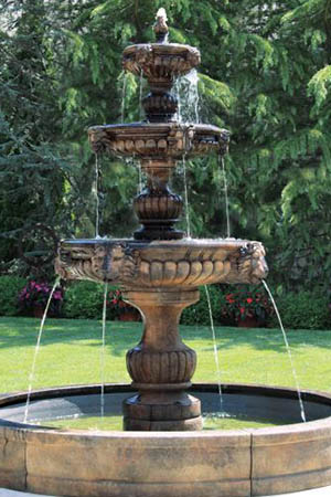 garden stone fountain Massarelli 3777