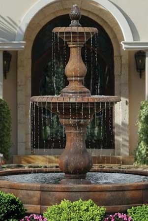 garden stone fountain Massarelli 3785