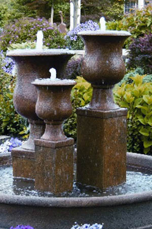 garden stone fountain Massarelli 3853