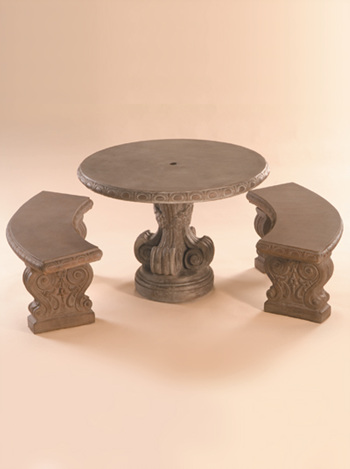 stone table curved