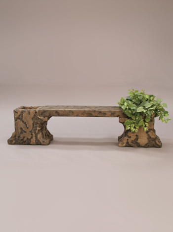 stone table weathered planter