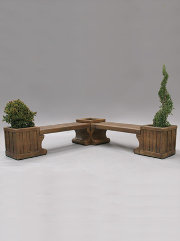 stone table contemporary planter